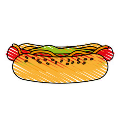 Delicious fast food icon imag vector