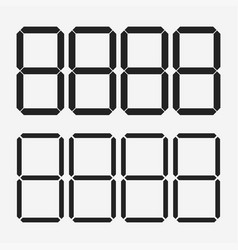 digits display electronic figures dial on a vector image