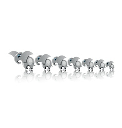 elephants for happy in line vector image