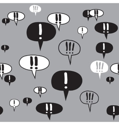 Exclamation Text Signs Gray Pattern vector