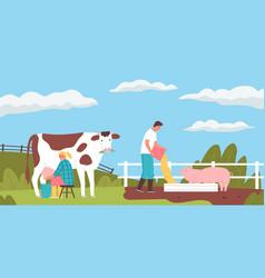 Farm flat vector