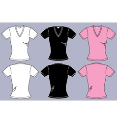 Female t-shirts vector image