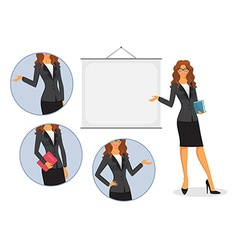 Female teacher with board vector image