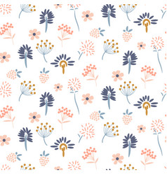 Flowers pastel colors seamless pattern vector