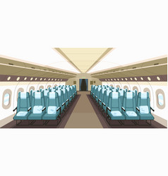 front view airplane interior design with aisle vector image