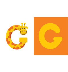 g is for giraffe letter g giraffe cute vector image