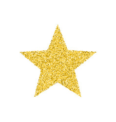 Glitter golden star vector