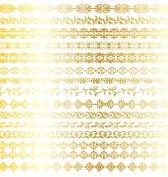 Gold ornate borders vector