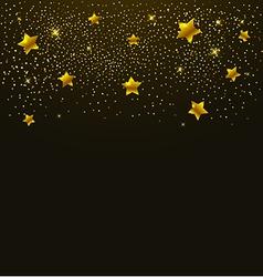 Golden shining stars vector