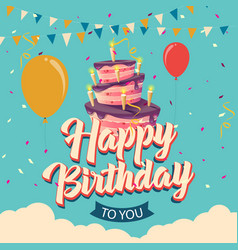 happy birthday greeting vector image