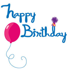 Happy birthday letters vector
