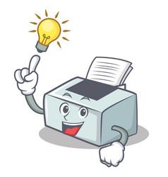 Have an idea printer mascot cartoon style vector