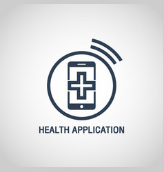 health application logo icon design vector image