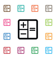 Isolated subtraction icon calculator vector