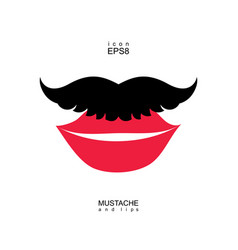 ladies and gentlemen picture lips and mustaches vector image
