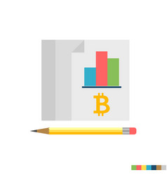 ledger flat icon vector image