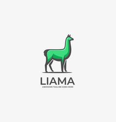 Logo alpacas elegant mascot cartoon vector
