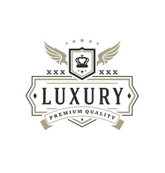luxury logo template object for logotype or vector image