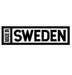 made in sweden label on white vector image