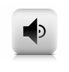 Media player icon with volume low sign vector
