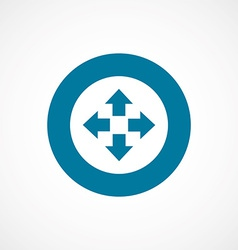 Move bold blue border circle icon vector