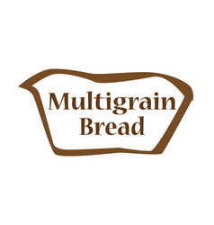 Multigrain bread outline shape vector