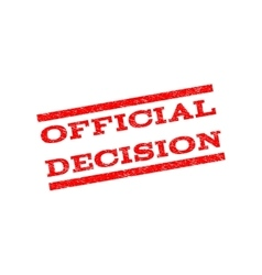 Official Decision Watermark Stamp vector image