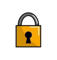 padlock service security symbol icon vector image