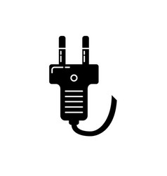 plug silhouette icon in flat style vector image
