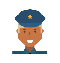 Police officer cartoon vector