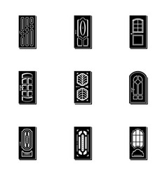 portal icons set simple style vector image