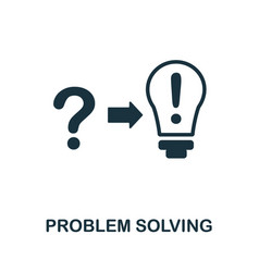 Problem solving icon monochrome sign from vector