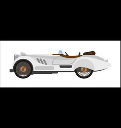 retro sport car old vintage racing sportcar vector image