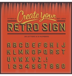 Retro type font vintage typography vector image vector image