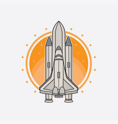 rocket logo design vector image