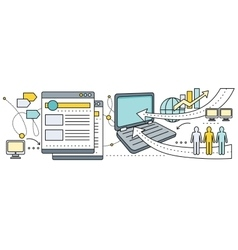 Satellite Internet Global Network Providers vector