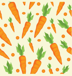 seamless pattern with carrot motif used for the vector image