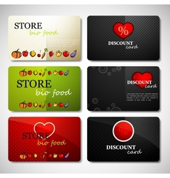 set of different kinds of discount cards vector image