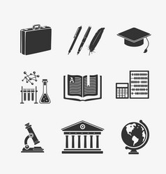 set symbols education vector image