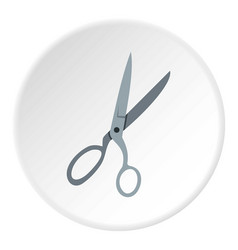 sewing scissors icon circle vector image