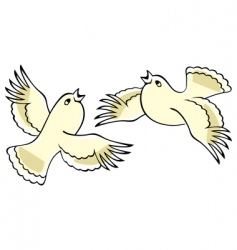 singing birds vector image vector image