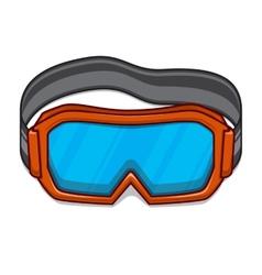 Snowboard ski goggles vector