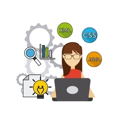 Software developer and programmer vector