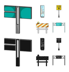 Stands and signs and other web icon in cartoon vector
