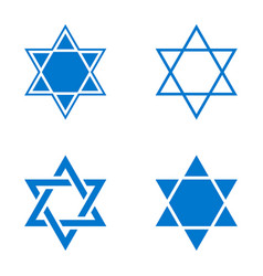 star of israel icon vector image