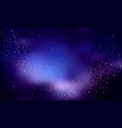 stars in the night skynebula and galaxy vector image