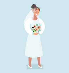 sweet bride - bridal shower or wedding vector image