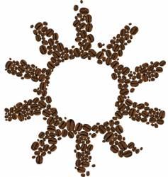 Symbol of coffee sun vector