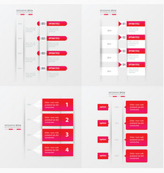 timeline design 4 item pink gradient color vector image