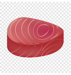 tuna meat mockup realistic style vector image